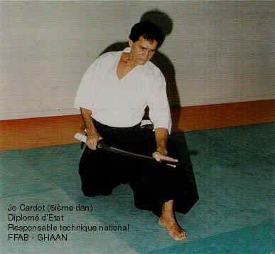 Jo Cardot (6ième Dan), Diplômé d'Etat, Responsable technique national du GHAAN (FFAB)