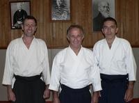Les trois enseignants du club